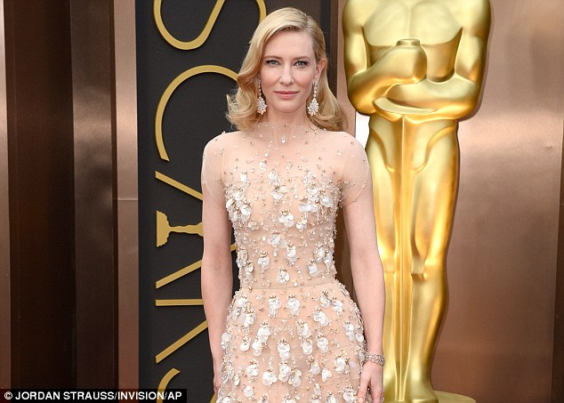 Beauty: Cate Blanchett arrives at the Oscars on Sunday, March 2