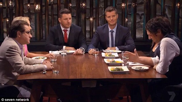 Waving goodbye? The celebirity chef with fellow judge Manu Feildel on Australia's My Kitchen Rules on Channel Seven.