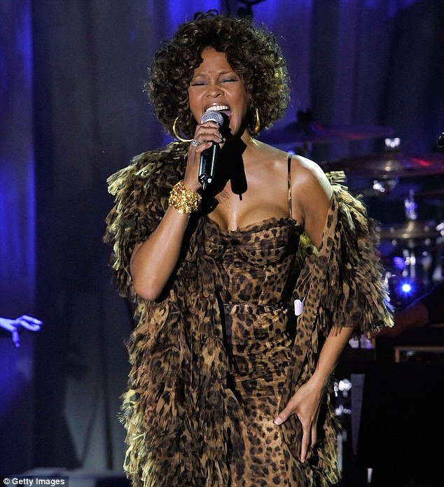 Singer Whitney Houston performs at the 2009 GRAMMY Salute To Industry Icons honoring Clive Davis at the Beverly Hilton Hotel