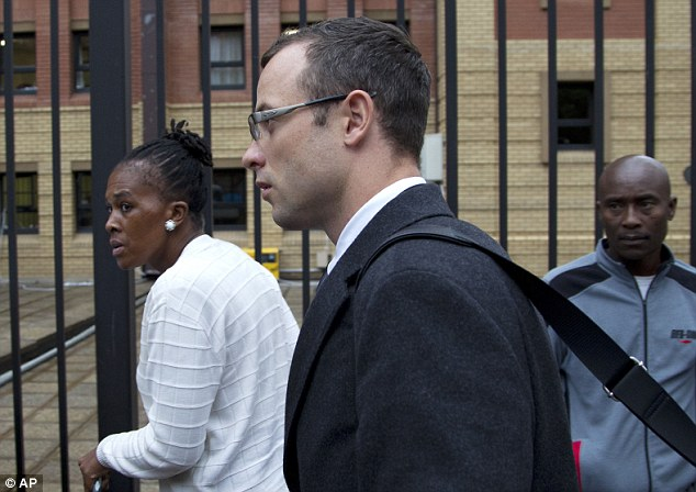 Defence: Pistorius denies murdering the model, arguing that he shot her after mistaking her for a burglar