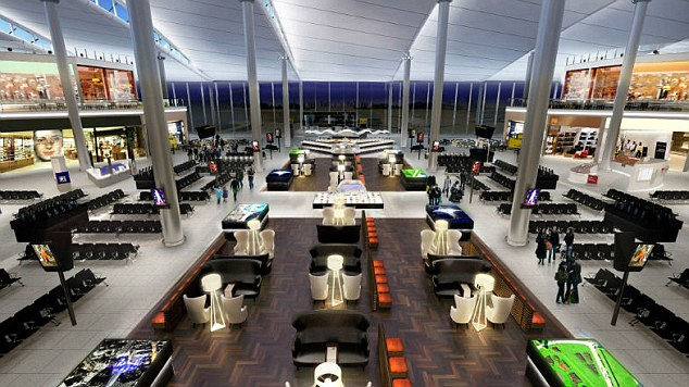 Redeveloped: Heathrow's new-look Terminal 2 is set to open in June