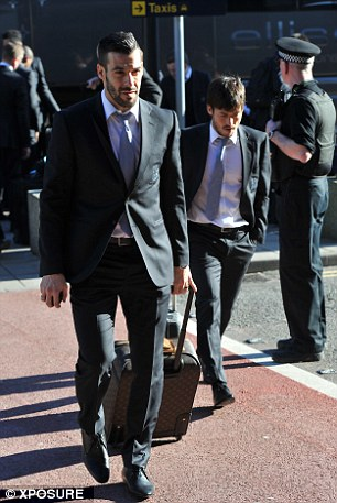 Best chance: Spaniards Alvaro Negredo and David Silva will hope to make an impact on home soil
