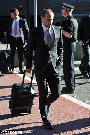 Downcast: Right back Pablo Zabaleta drags his suitcase into the airport as he considers mission impossible