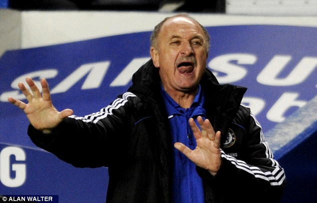 Struggles: Scolari's time at Stamford Bridge coincided with indifferent results and reports of a player revolt