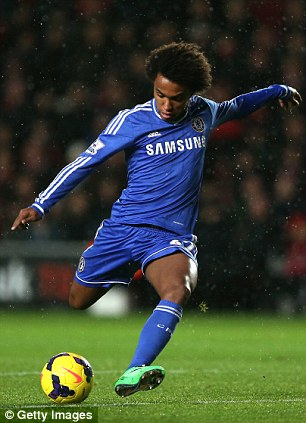 Chelsea's Willian is expected to make Brazil's World Cup squad