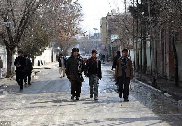 Scene: Mr Horner was shot in the affluent Wazir Akbar Khan district (pictured) of Kabul, which is home to several embassies and media organisations