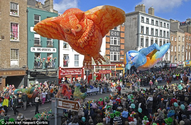 Enjoying the craic: There are events staged to celebrate the holiday over the whole weekend