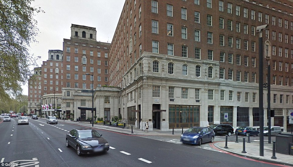 Swanky: The apartment is in an apartment block similar to the ones shown, in London's Mayfair