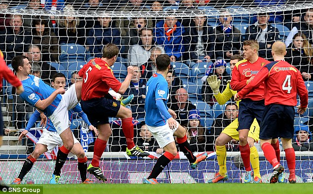 Shock result: Albion Rovers' Ciaran Donnelly helped earn his side a Scottish Cup replay at Rangers