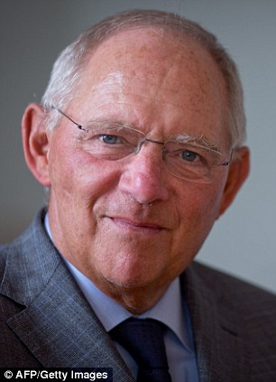 Confident: German finance minister Wolfgang Schaeuble said he expects Luxembourg to drop its opposition