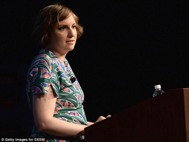 Taking to the stage: Lena spoke during the SXSW 2014 Film Keynote speech