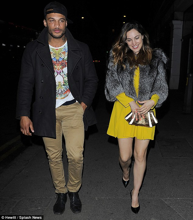 Former couple: Kelly Brook's on-off boyfriend David McIntosh (pictured together on Monday) had been employed to take the dead creatures for disposal as part of the badger cull in Gloucestershire