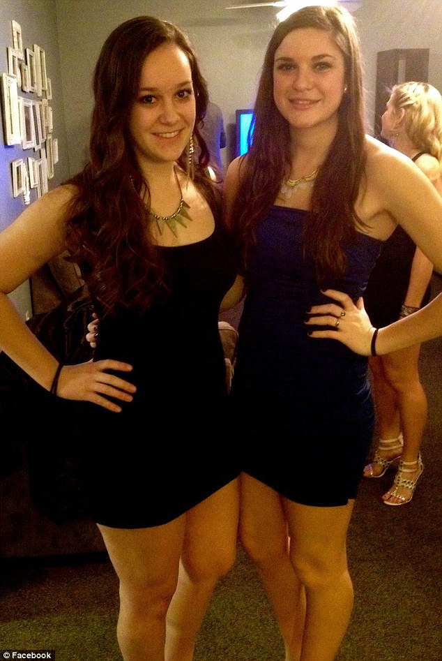 Stephanie Ross (left) died suddenly and all students who came into contact with her are urged to take antibiotics