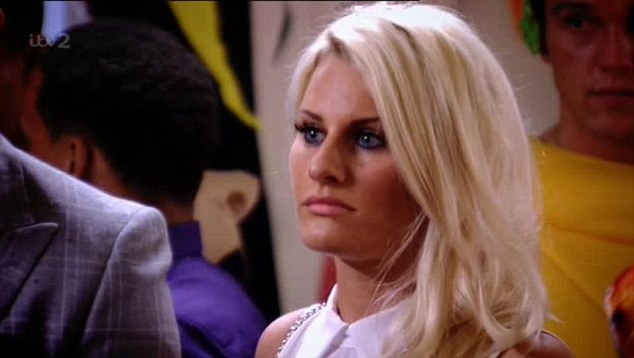 Pensive: Danielle was seething during her row with Gemma and Bobby