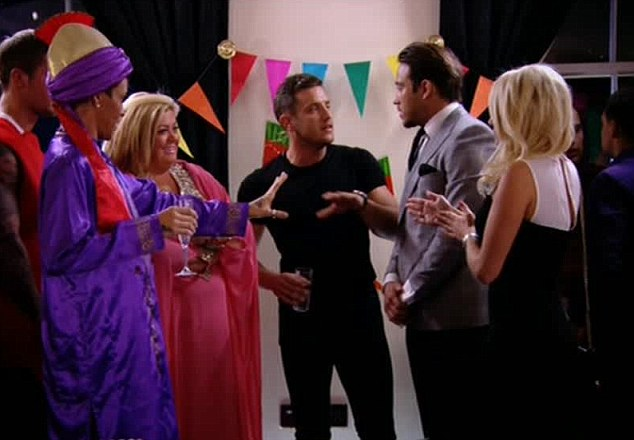 Tempers fly: There are harsh exchanges of words as Lockie confronts Bobby and Gemma, and accuses them of being 'fake friends'