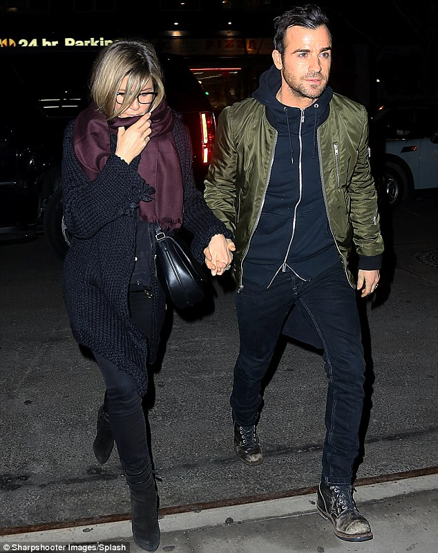 Big news: Jennifer Aniston was spotted out and about in New York with Justin Theroux for the second time in a day in New York on Tuesday