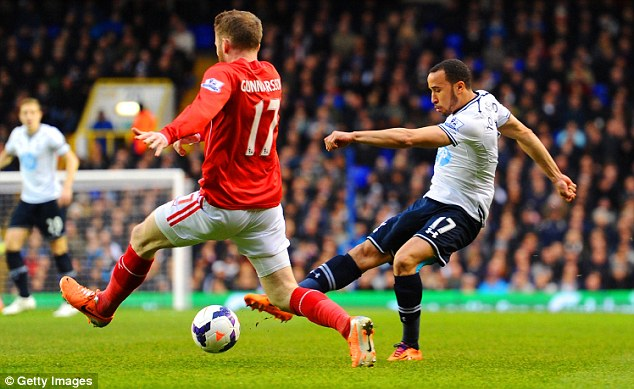 Fight: Townsend is determined to reclaim his spot in the Tottenham team to help his England chances