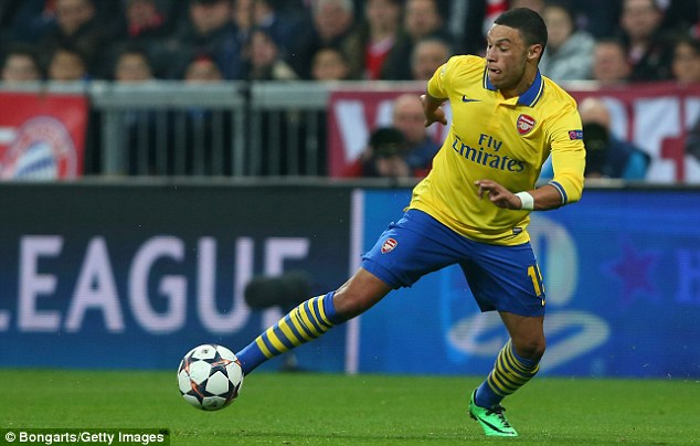 Improving: Alex Oxlade-Chamberlain has been one of Arsenal's star performers in recent weeks