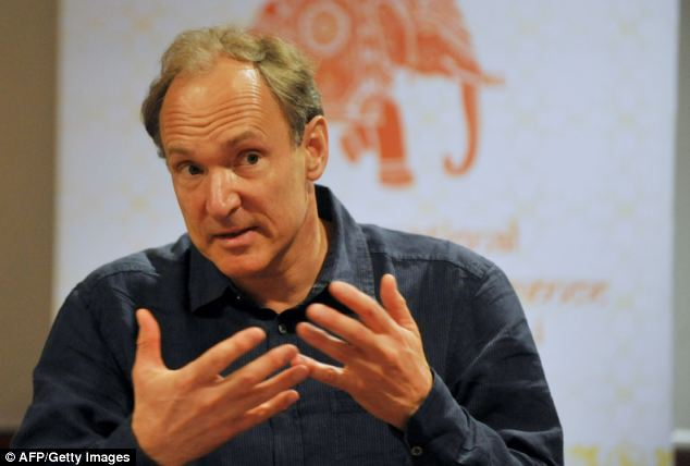Anniversary: Speaking 25 years after he first drafted the proposal for what would later become the world wide web,Sir Tim called on users to mark the anniversary, but said new rules were needed