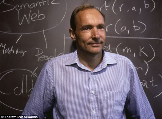 Rights: World wide web creator Sir Tim Berners-Lee has called for a digital 'Magna Carta' to enshrine the rights of users across the world on the 25th anniversary of his proposal for the internet