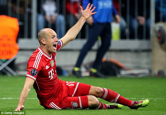 Craftsman or cheat? The debate over Arjen Robben's gamesmanship rages on after he was involved in three penalty incidents over the two legs of Bayern Munich's Champions League tie with Arsenal