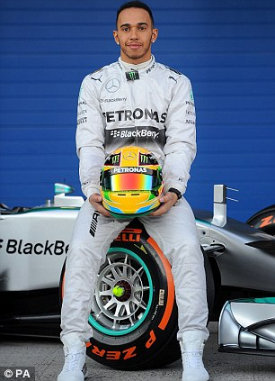 Future champion: Brundle believes Lewis Hamilton will win his second Drivers' championship this campaign