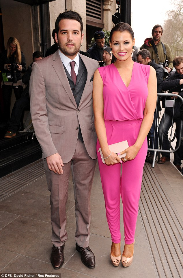 Young love: Jess is currently dating her co-star Ricky Rayment - as seen at the TRIC awards on Tuesday night