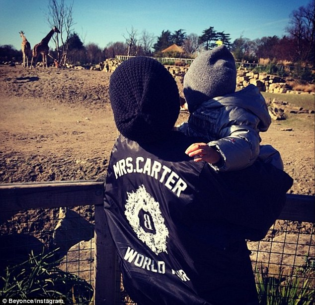 What can you see? Beyonce treated her daughter Blue Ivy to a trip to Dublin Zoo on Tuesday ahead of her first gig in the city