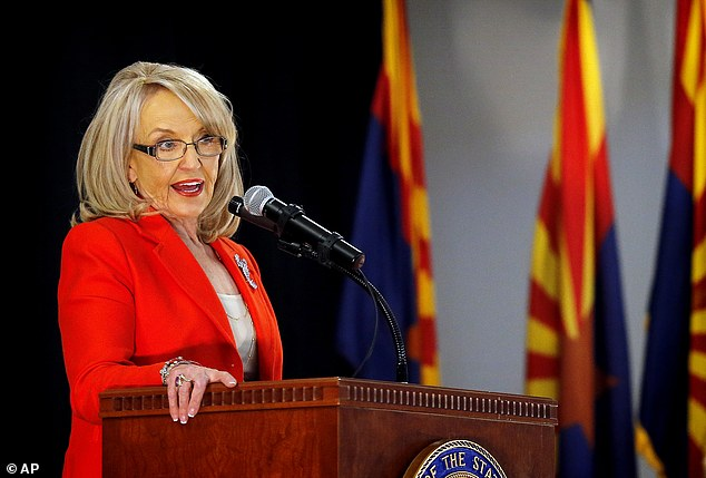 Arizona Governor Jan Brewer announces that she will not seek a third term and will retire at the end of her current term today in Glendale