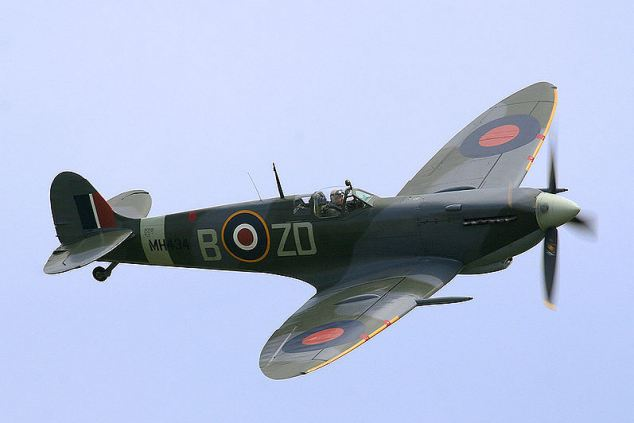 The Supermarine Spitfire was one of the aeroplanes responsible for defeating the Luftwaffe in the Battle of Britain