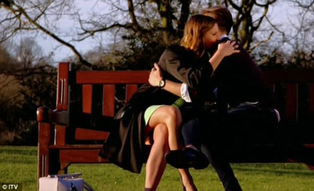 Reconciliation: Ferne apologises to Charlie, before the pair literally kiss and make up