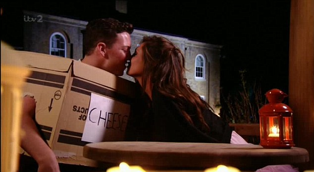 Sealed with a kiss: The pair finally tell each other how they really feel on Wednesday nights episode