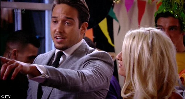 Aggressive: Lockie insults Gemma's weight during a heated row