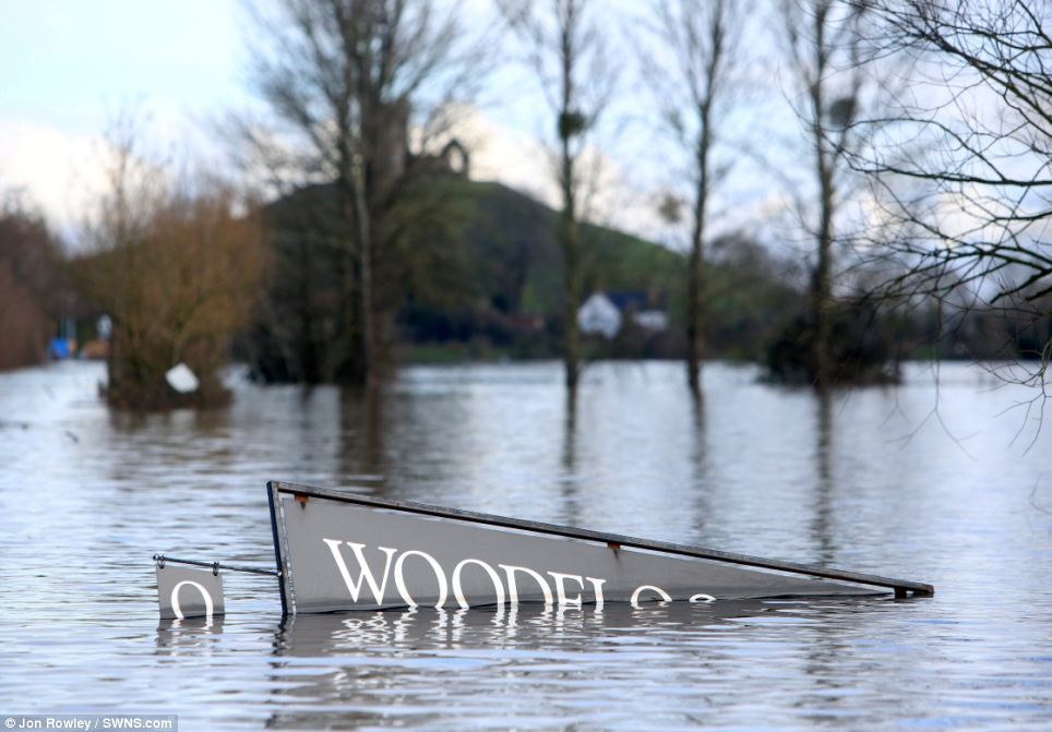 Flood: The South-West suffered more than anywhere else during the wettest winter since records began, with wide swathes of the area underwater