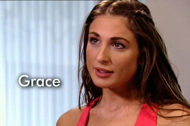 Flirty: Grace denied having any feelings for Mario in Wednesday nights episode