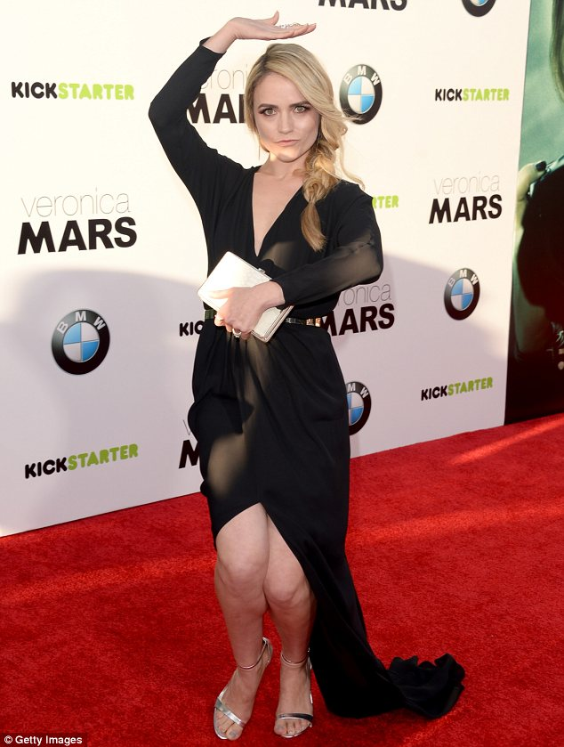 Watch out Veronica: Amanda Noret aka one of Veronica's main torturers Madison Sinclair, also hit the red carpet