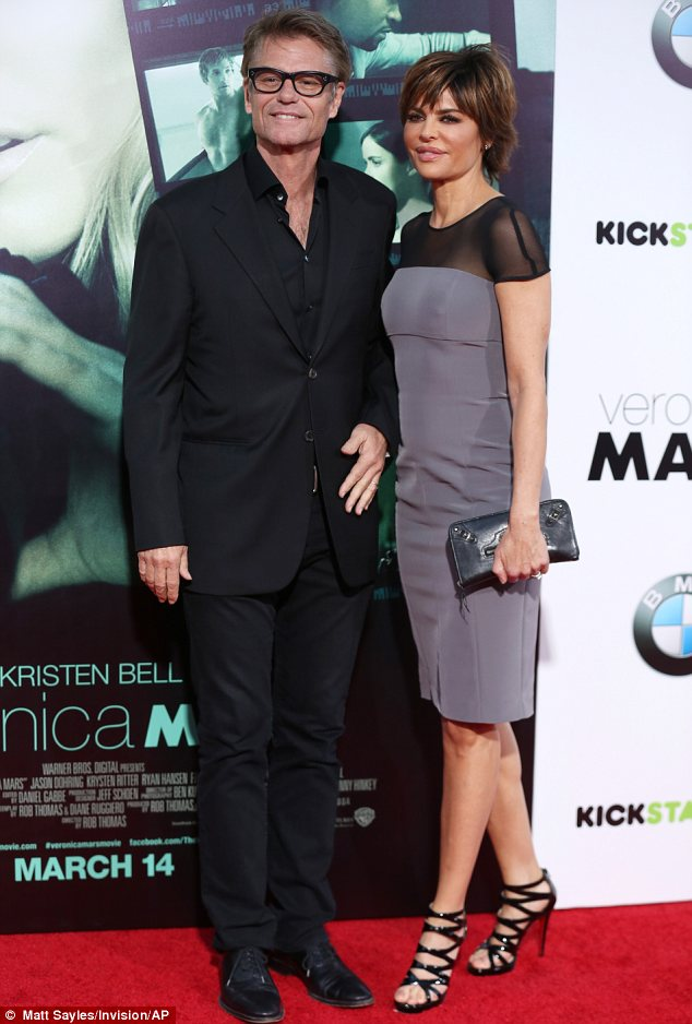 They're back: Harry Hamlin and Lisa Rinna, who played Logan Echolls' parents on the show, both showed their support at the premiere even though their characters are dead