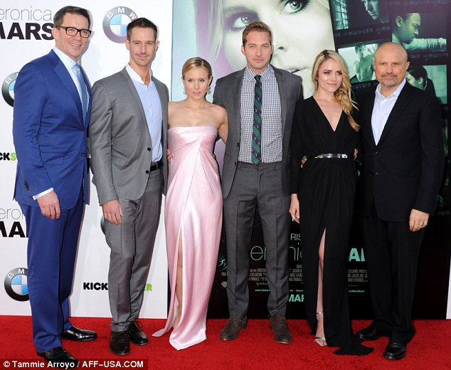 Shining moment: Jason, Rob, Kristen, Ryan, Amanda and Enrico took their place in the spotlight