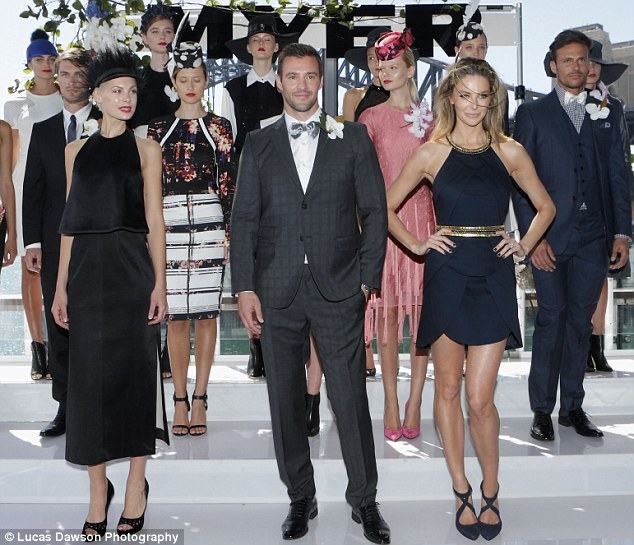 Fashion greats: The model hit the catwalk at Myer's Autumn Winter racing launch alongside fellow ambassadors Kris Smith and Jennifer Hawkins on Tuesday