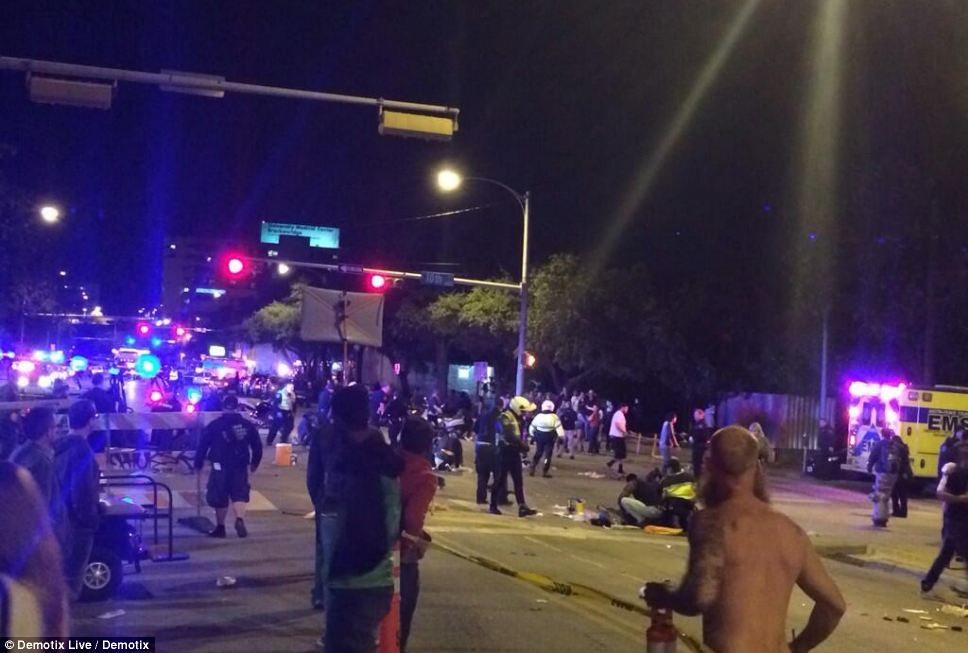 Witnesses can be seen in a state of panic and confusion shortly after the driver plowed through the crowd