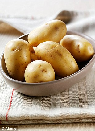 The common potato was also named as an item carried in a handbag
