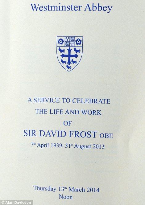 David Frost memorial