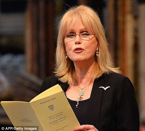 Wolf Of Wall Street actress Joanna Lumley spoke at the ceremony