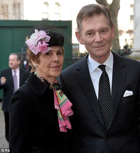 Anthony Andrews and wife Georgina Simpson