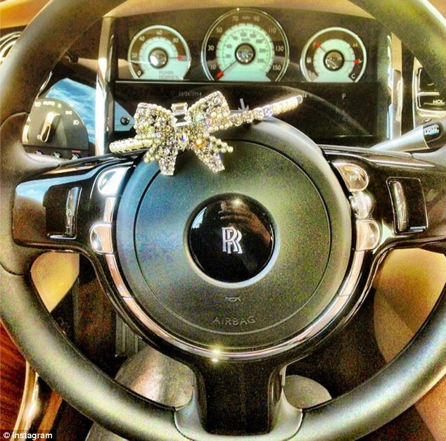 Cash to splash: The Real Hosuewives Of Atlanta star apparently received a Rolls Royce from her wealthy new man