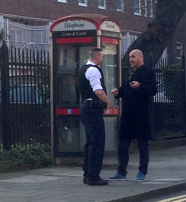 Witnesses called police, who arrived shortly before 1pm and arrested the controversial ex-player on suspicion of assault