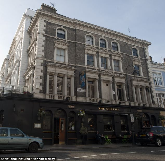 The French star is believed to have enjoyed a beer and lunch in the Queens pub in Primrose Hill before the incident happened