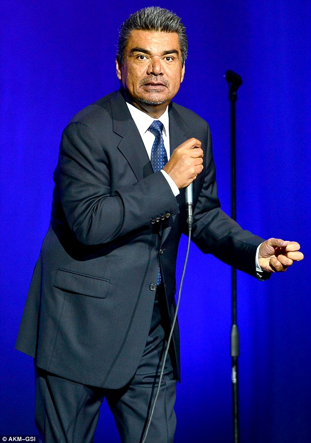 King of comedy: The entertainer is currently taking his comic routine across the country; he was pictured doing a show in Hollywood, Florida on January 4