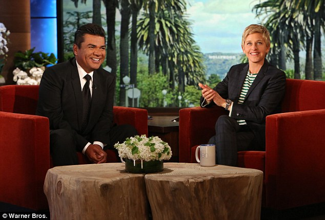 Sober: George Lopez revealed on Thursday's The Ellen DeGeneres Show that he hasn't had a drop of alcohol since his embarrassing arrest last month at a Canadian casino