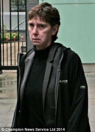 Won: Christine Watts, 47, was accused of being too lazy to work as she waited for her mother's will